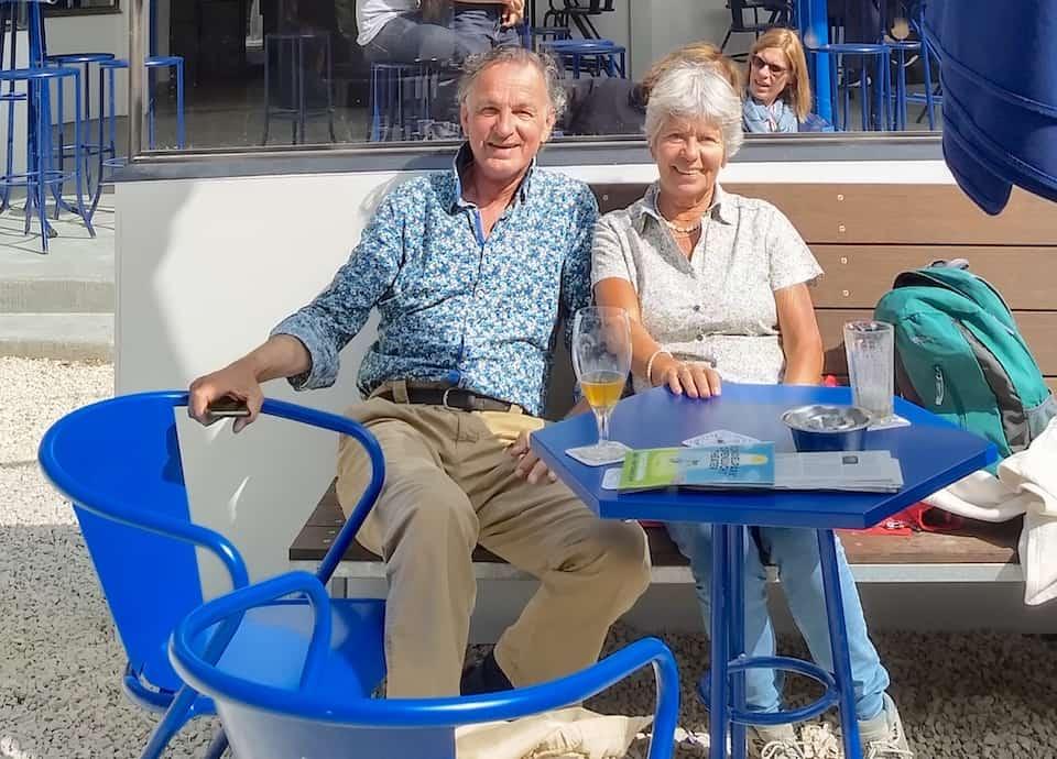 Haije Bouman met Marijke Duysens, juli 2019